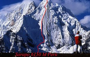Ruta de ascenso del Sarapo 6127 metros