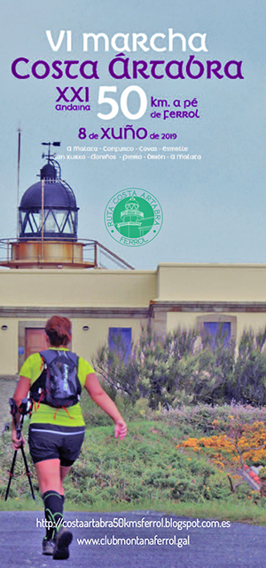 Sábado 8 de xuño de 2019 - 50 km a pé por Ferrol