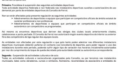 BANDO DO ALCALDE: O DEPORTE PECHADO!