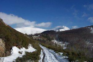 Camino de Tres Obispos, febrero 2003.