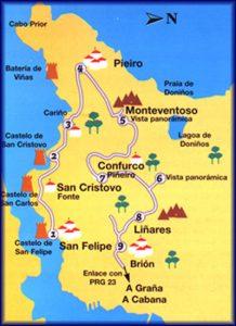 Mapa Brión