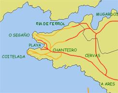 Mapa Chanteiro